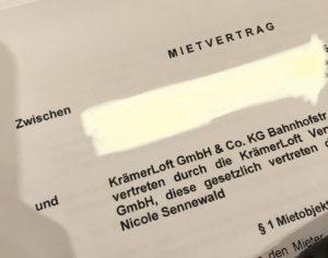 Mietvertrag KrämerLoft